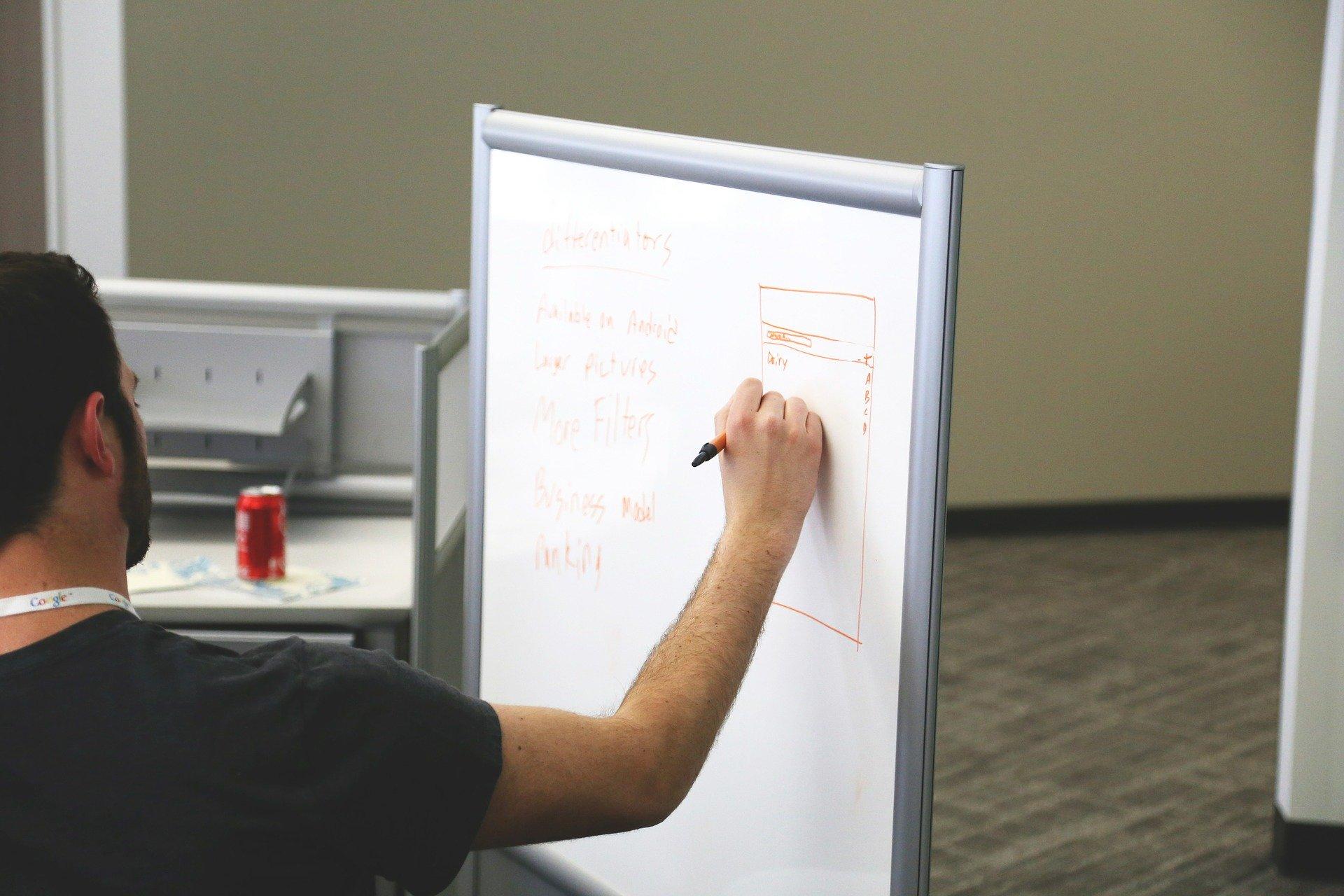 Explanation on whiteboard