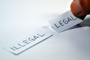 Writing on paper: Legal or illegal