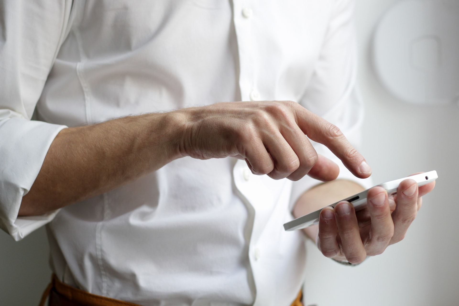 Man with a smartphone in a hands